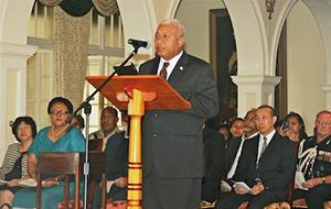 Fiji Prime Minister Bainimarama