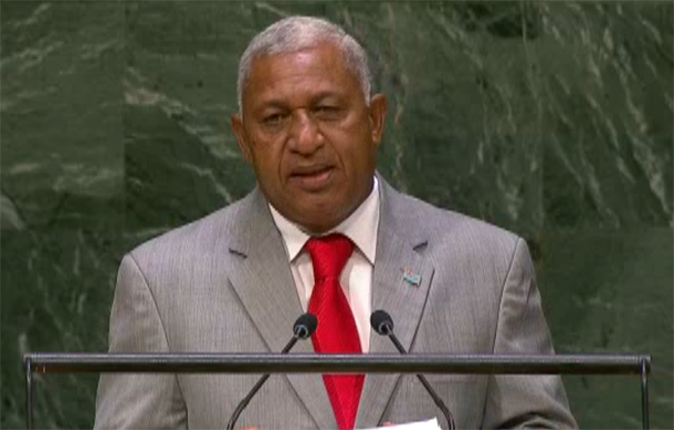 Bainimarama at UN general assembly 2014